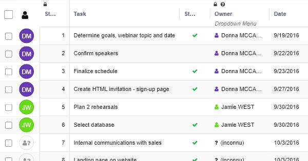 Webinar Planner - Marketing Template - RowShare