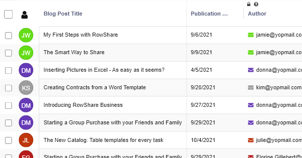 Editorial Calendar - Marketing Template - RowShare