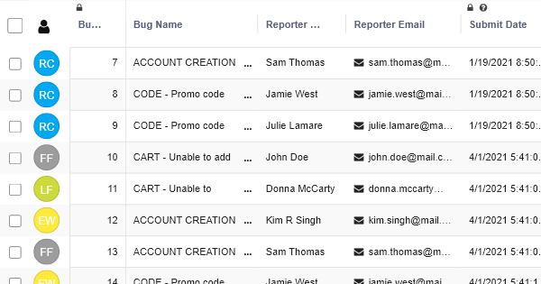 Bug Tracker - TIcket Trasking Template - RowShare