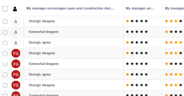 Manager Feedback - HR Table Template - RowShare