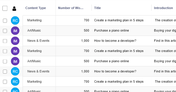Content Brief - Marketing Template - RowShare