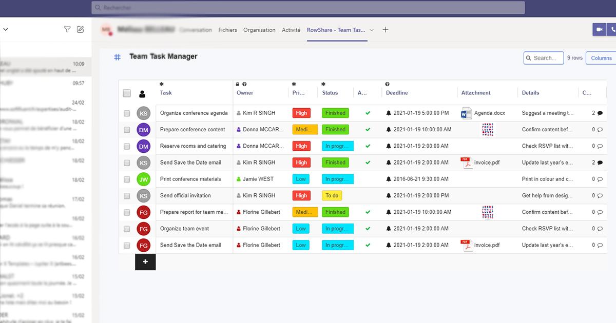 RowShare Microsoft Teams Application - Blog - RowShare